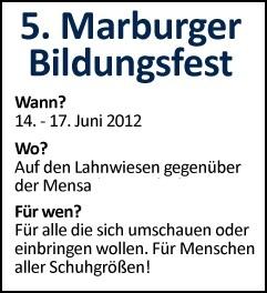 5. Marburger Bildungsfest