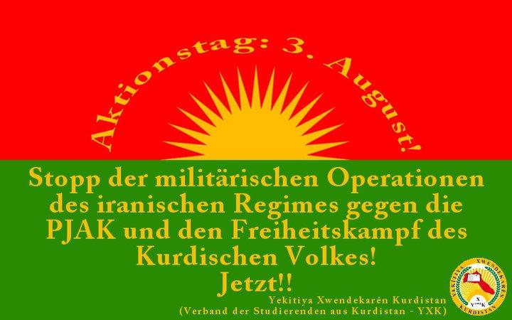 Aktionstag gegen die iranischen Operationen