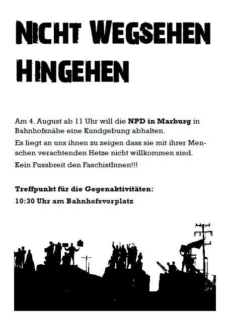 Gegendemo NPD - Marburg